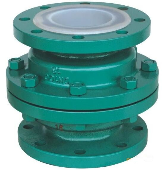GGG 40.3 ductile iron Ball Check Valve with two Flanged pieces