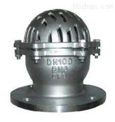Ball Type  Stainless Steel Foot Valve 2 Inch / 4 Inch For Sewage DN15 ~ DN300