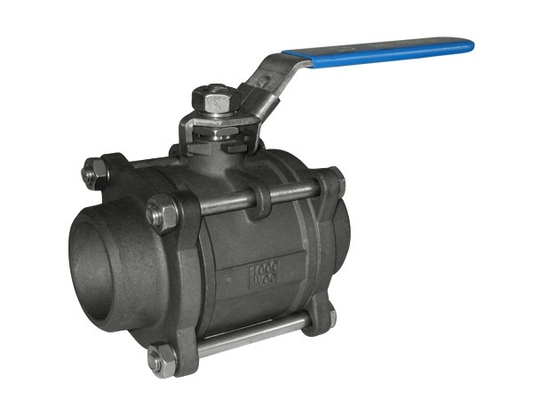 NPT / BSP Screw Threaded Ball Valve Floating For Petroleum / 3 Piece Ball Valve